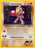 Pokemon Gym Heroes 1st Edition Single Rocket's Hitmonchan 11/132 - MODERATE PLAY (MP)