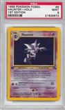 Pokemon Fossil 1st Edition Single Haunter 6/62 - PSA 9 - *21625673*