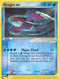Pokemon Promotional Single Kyogre EX 001 - SLIGHT PLAY (SP)