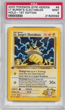 Pokemon Gym Heroes 1st Edition Single Lt. Surge's Electabuzz 6/132 - PSA 9 - *21625592*