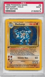 Pokemon Base Set 1 Single 1st Edition Machamp 8/102 - PSA 9 - *21625574*