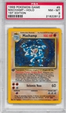 Pokemon Base Set 1 Single 1st Edition Machamp 8/102 - PSA 8 - *21822812*