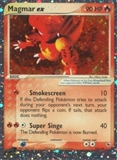 Pokemon EX Ruby and Sapphire Single Magmar EX 100/109 - MODERATE PLAY (MP)