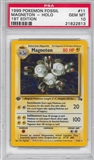 Pokemon Fossil 1st Edition Single Magneton 11/62 - PSA 10 - *21822813*