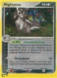 Pokemon EX Ruby and Sapphire Single Mightyena 10/109 - NEAR MINT (NM)