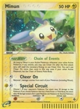 Pokemon EX Dragon Single Minun Reverse Foil 7/97 - SLIGHT PLAY (SP)