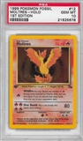 Pokemon Fossil 1st Edition Single Moltres 12/62 - PSA 10 - *21625678*