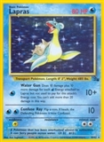 Pokemon Fossil Single Lapras 10/62 - SLIGHT PLAY (SP)