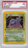 Pokemon Fossil 1st Edition Single Muk 13/62 - PSA 9 - *21625679*