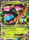 Pokemon XY Single M Venusaur EX 2 - MODERATE PLAY (MP)