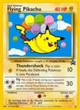 Pokemon Promotional Single Flying Pikachu 25 - HEAVY PLAY (HP)