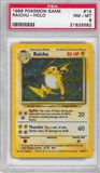 Pokemon Base Set 1 Single Raichu 14/102 - PSA 8 - *21625582*