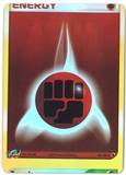 Pokemon EX Ruby and Sapphire Single Fighting Energy REVERSE FOIL (MISCUT) - NEAR MINT