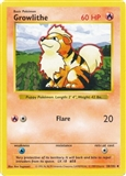 Pokemon Base Set SHADOWLESS Single Growlithe 28 - NEAR MINT (NM)
