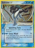 Pokemon EX Unseen Forces Single Suicune * (Star) 115/115 - MODERATE PLAY (MP)