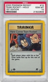Pokemon Team Rocket 1st Ed. Here Comes Team Rocket! Trainer 15/82 - PSA 10 - *21822809*