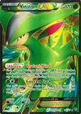 Pokemon BW Plasma Blast Single Virizion EX 96 FULL ART - MODERATE PLAY (MP)