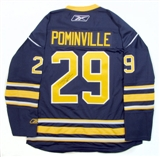 Jason Pominville Autographed Buffalo Sabres Blue Hockey Jersey