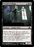 Magic the Gathering Dragon's Maze Single Pontiff of Blight Foil UNPLAYED