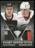 2013-14 Panini Titanium Game Worn Gear Dual Memorabilia Patch #GDPB Keith Primeau Rod Brind'Amour 12/15
