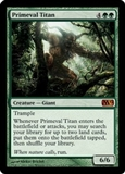 Magic the Gathering 2012 Single Primeval Titan - SLIGHT PLAY (SP)