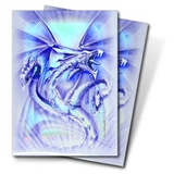 Ultra Pro Blue Diamond Dragon Standard Deck Protectors 50 Count Pack