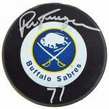Pierre Turgeon Autographed Buffalo Sabres Hockey Puck