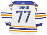 Pierre Turgeon Autographed Buffalo Sabres Throwback White Reebok Jersey