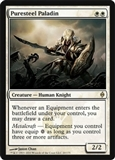 Magic the Gathering New Phyrexia Single Puresteel Paladin UNPLAYED (NM/MT)