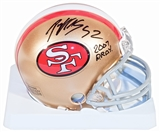 Patrick Willis Autographed San Francisco 49ers Mini Helmet with 2007 DROY inscrip