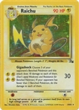 Pokemon Fossil Single Raichu 14/62 - SLIGHT PLAY (SP)