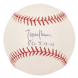"Randy Johnson Autographed Official MLB Baseball w/""PG 5-8-04"" (Steiner)"