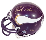 Randy Moss Autographed Minnesota Vikings Mini Helmet #97/100 (Upper Deck)