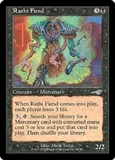 Magic the Gathering Nemesis Single Rathi Fiend FOIL