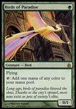Magic the Gathering Ravnica: City of Guilds Single Birds of Paradise FOIL - SLIGHT PLAY