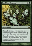 Magic the Gathering Ravnica: City of Guilds Single Doubling Season FOIL (SLIGHT PLAY) SP