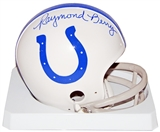 Raymond Berry Autographed Baltimore Colts Mini Helmet (Leaf COA)