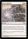Magic the Gathering Mirrodin Single Razor Barrier FOIL
