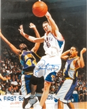 Raef LaFrentz Autographed Kansas Jayhawks 8x10 Photo (Press Pass)