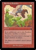 Magic the Gathering Urza's Destiny Single Reckless Abandon FOIL