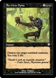 Magic the Gathering Invasion Single Reckless Spite FOIL