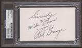 Red Grange Autograph (Index Card) PSA/DNA Certified *7766