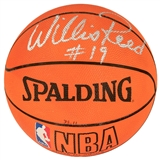 Willis Reed and Dave DeBusschere Autographed NBA Spalding Basketball (JSA)