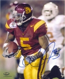 Reggie Bush Autographed USC Trojans 8x10 Photo (GTSM & Press Pass)