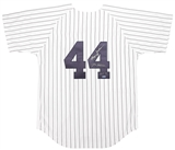 Reggie Jackson Autographed New York Yankees Jersey w/ Mr. October (Tristar)