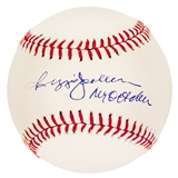 Reggie Jackson Autographed New York Yankees MLB Baseball w/ Mr. October (Steiner)