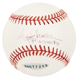"Reggie Jackson Autographed New York Yankees Official MLB Baseball w/""WS MVP 77"" (UDA)"