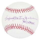"Reggie Jackson Autographed ""Reginald Martinez Jackson"" MLB Baseball w/""Mr. October"" Insc"