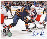 Samson Reinhart Autographed Buffalo Sabres Faceoff 8x10 Hockey Photo