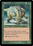 Magic the Gathering Nemesis Single Rhox FOIL